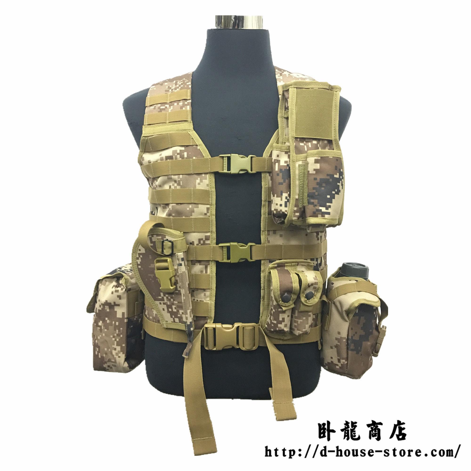 【実物】PLA06式通用単兵携行具 荒漠迷彩 幹部配置セット