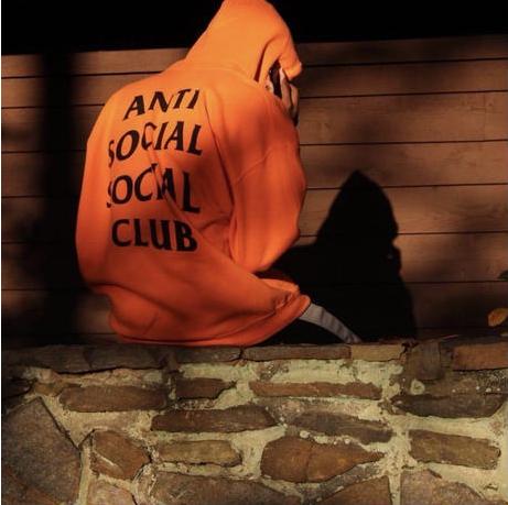 人気新品 アンチソーシャルソーシャルクラブ  Anti Social Social Club パーカー 男女兼用 人気 カップル 春 春物 冬春 大人気   オレンジ