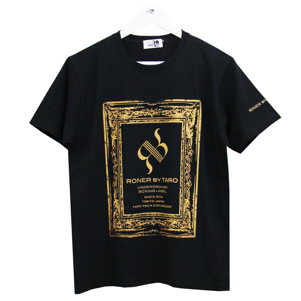 RONER      antique BOX  logo  T-shirt