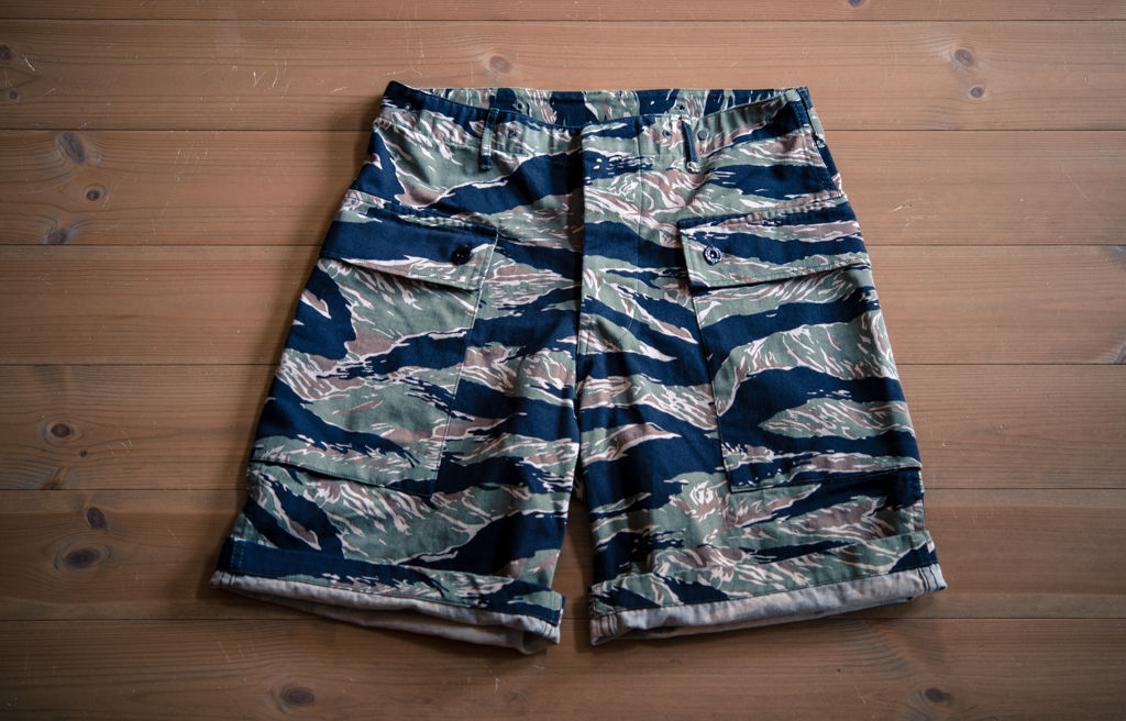 Crawling Shorts Twill Tiger Stripe   (S)(L)(XL)は5月末のお届けになります。