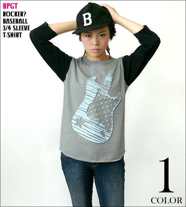 sp029bbt - Rocker? 3/4スリーブ ベースボールTシャツ - BPGT -G-( ライブ フェス ロック バンドTシャツ ギター 7分袖 )