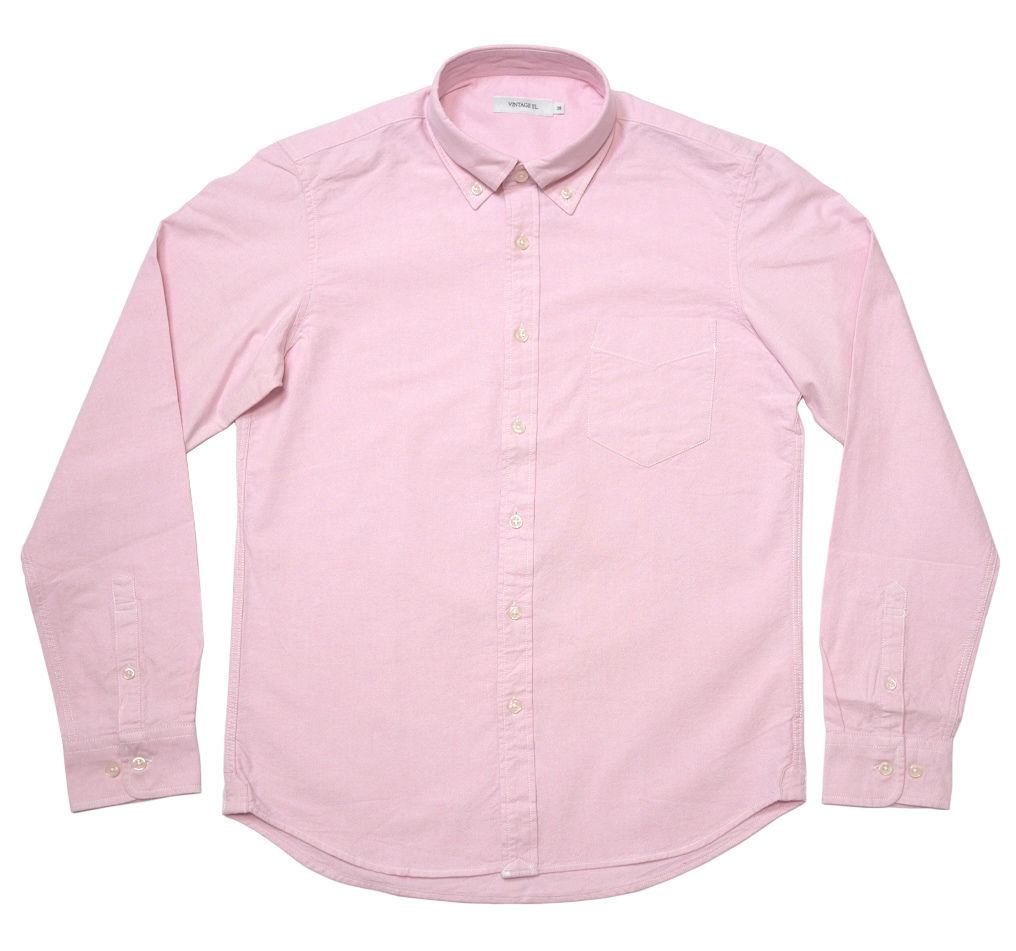 sh75201s-pi15 - オックスフォード BDシャツ (ピンク)-VINTAGE EL-G- 長袖 OX ボタンダウン Yシャツ 定番 桃色