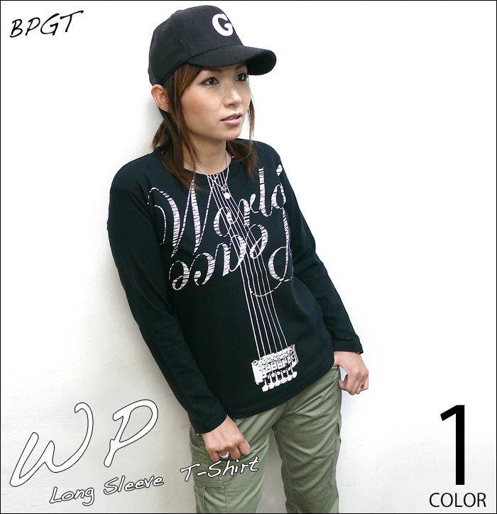 冬セール☆ sp073lt - WP ロングスリーブTシャツ -G- ロンT 長袖 平和 カットソー ロックTシャツ ギター カジュアル