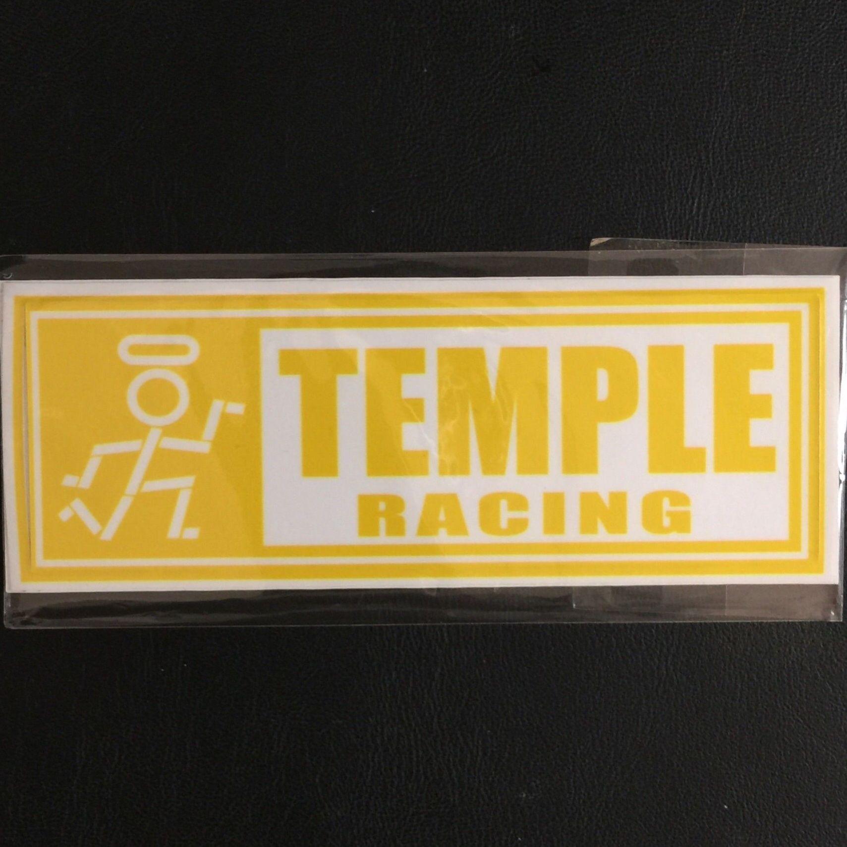 TEMPLE 定番ロゴ×シンボル ステッカー 15サイズ