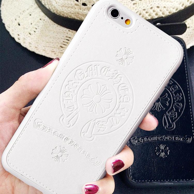 Iphone6s スマホケース 人気のホースシューエンブレム タイプクロムハーツ【ブラック・ホワイト・ピンク】