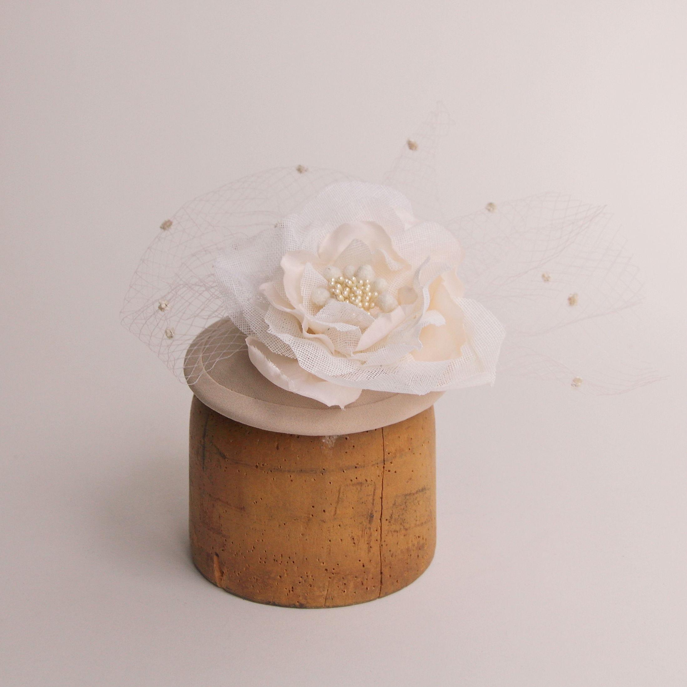 花とドットベールのヘッドドレス T1149