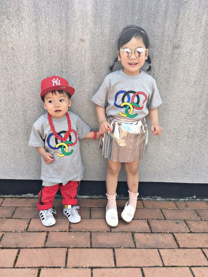 オリンピックカラーTシャツ☆kids