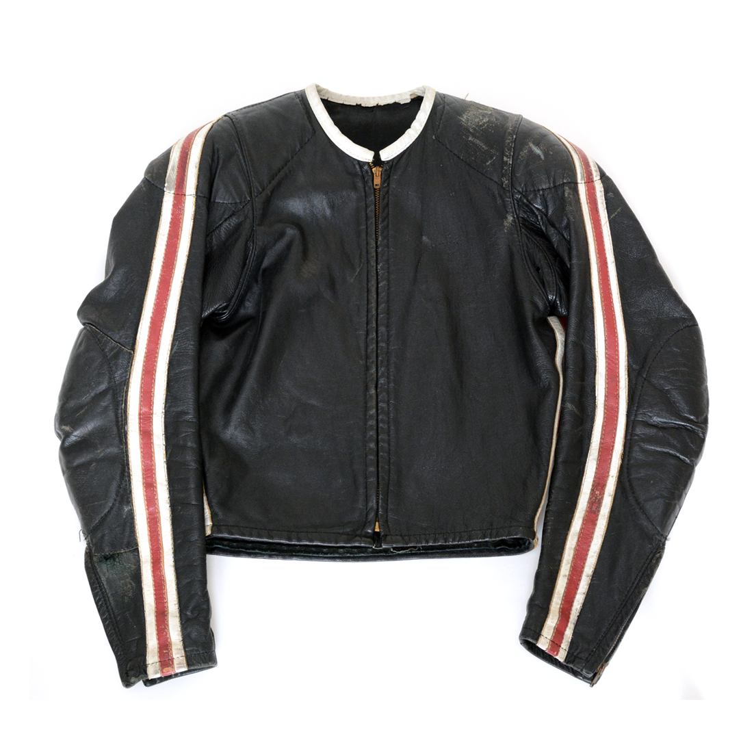 〈ABC Leathers〉Mid 60s-style Stripes Racing Jacket