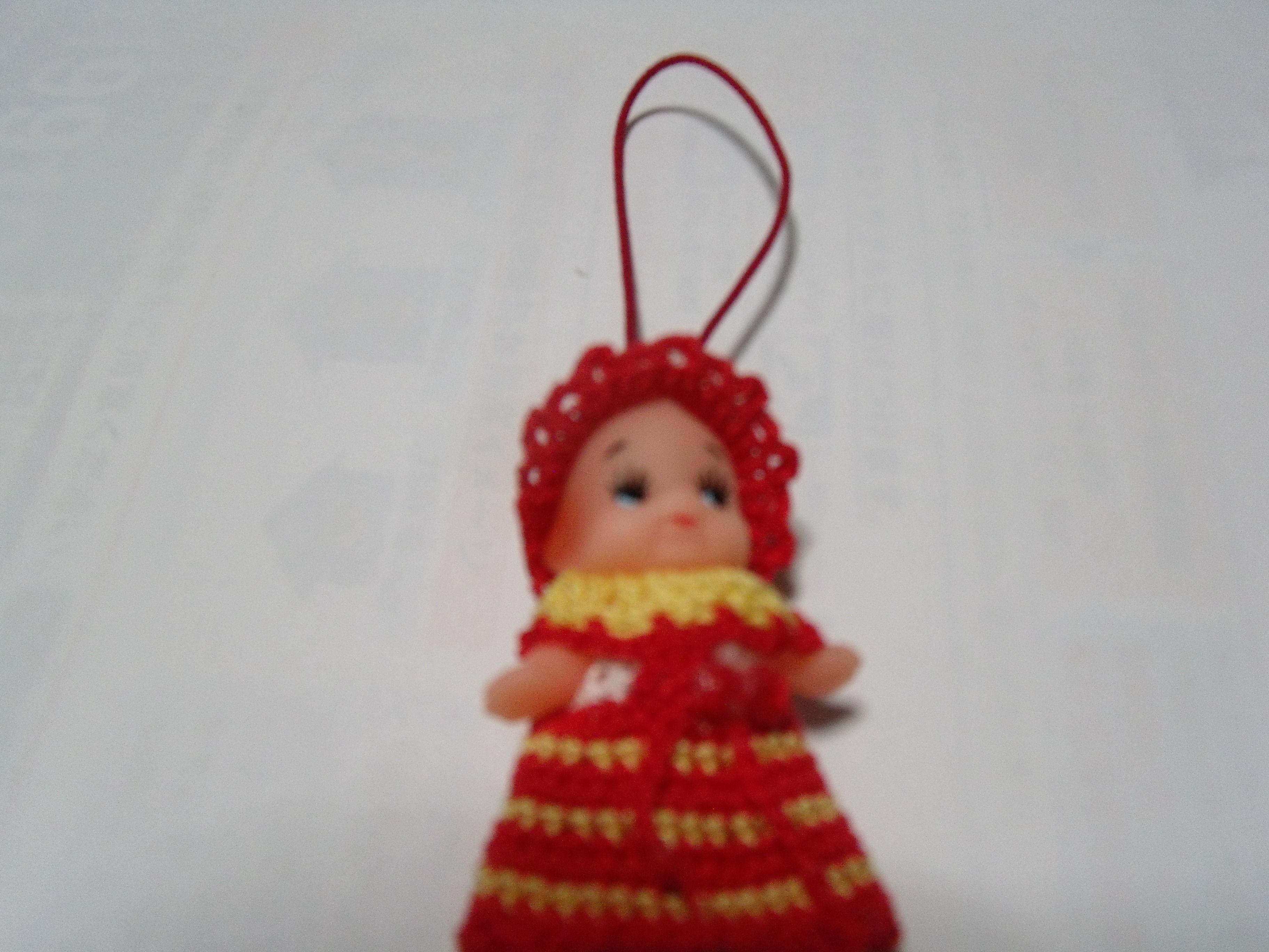 キューピー人形(赤黄)