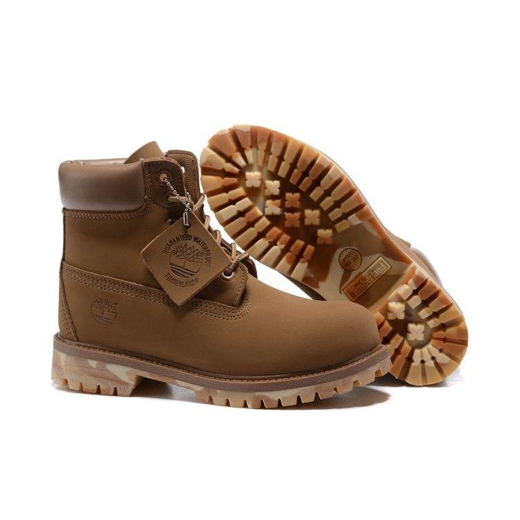 ティンバーランド Timberland 6INCH PREMIUM BOOTS ブーツ ヌバック レザー ジュニア ウィート WHEAT シューズ 靴 レディース