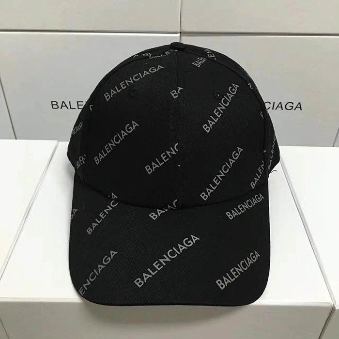 バレンシアガ ブラック帽子 キャップ 数量限定 男女兼用 XLM53179