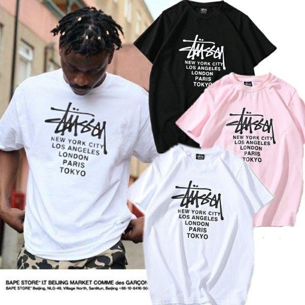 多色 可愛い ステューシー tシャツ 人気半袖 男女愛用 送料無料