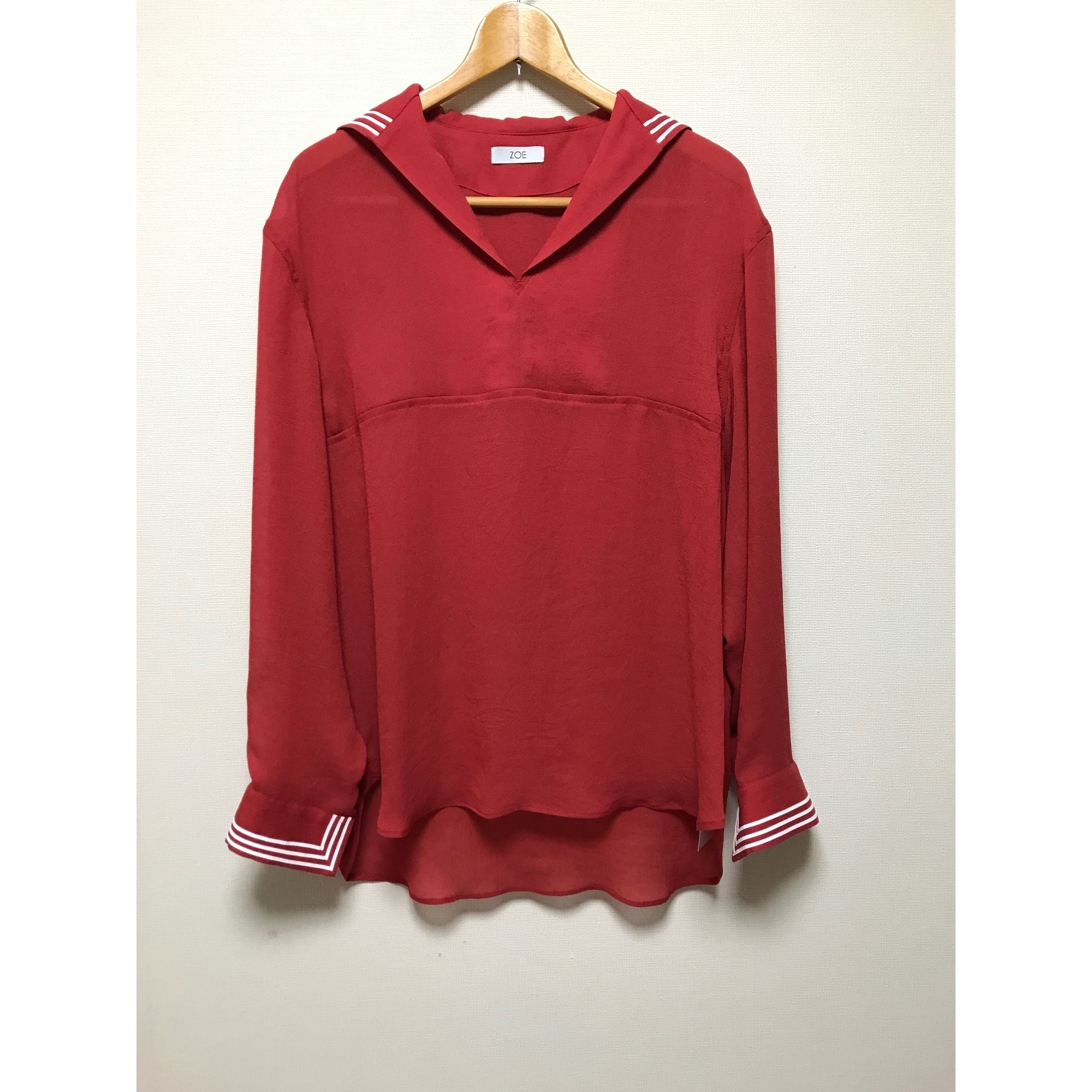 ZOE  セーラーシャツ  Red  sailor  shirt