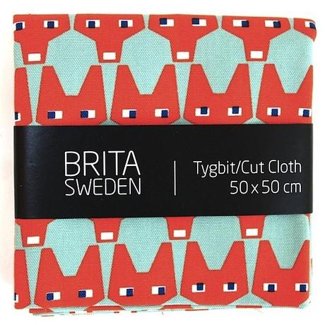 BRITA SWEDEN(ブリタ スウェーデン) カットクロス(50cm X 50cm) 《Rut きつね グレイッシュグリーン》