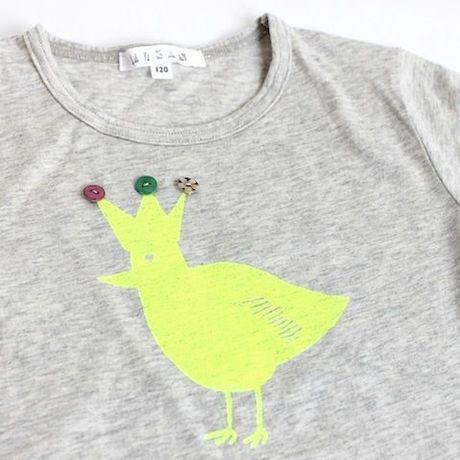 ハンドプリント バードTシャツ