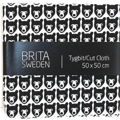 BRITA SWEDEN(ブリタ スウェーデン) カットクロス(50cm X 50cm) 《Stina くま ブラック》