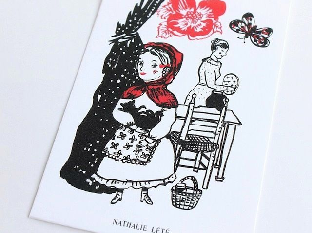 Nathalie Lete(ナタリーレテ) ぽち袋 《赤ずきん》同デザイン3枚ワンセット