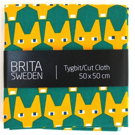 BRITA SWEDEN(ブリタ スウェーデン) カットクロス(50cm X 50cm) 《Rut きつね グリーン》
