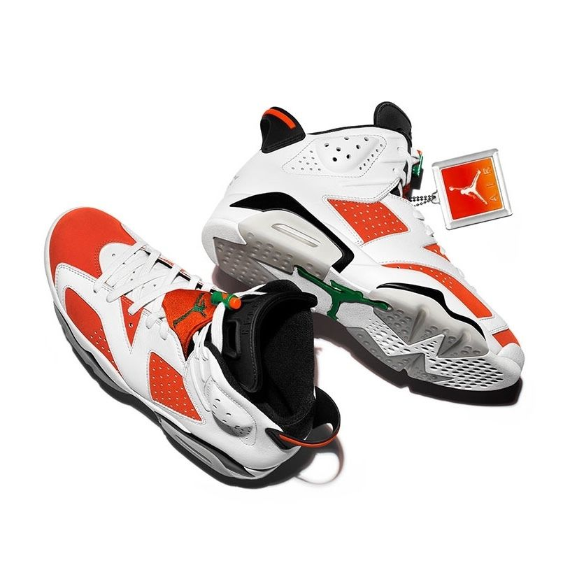 NIKE AIR JORDAN 6 RETRO SUMMIT WHITE/TEAM ORANGE-BLACK