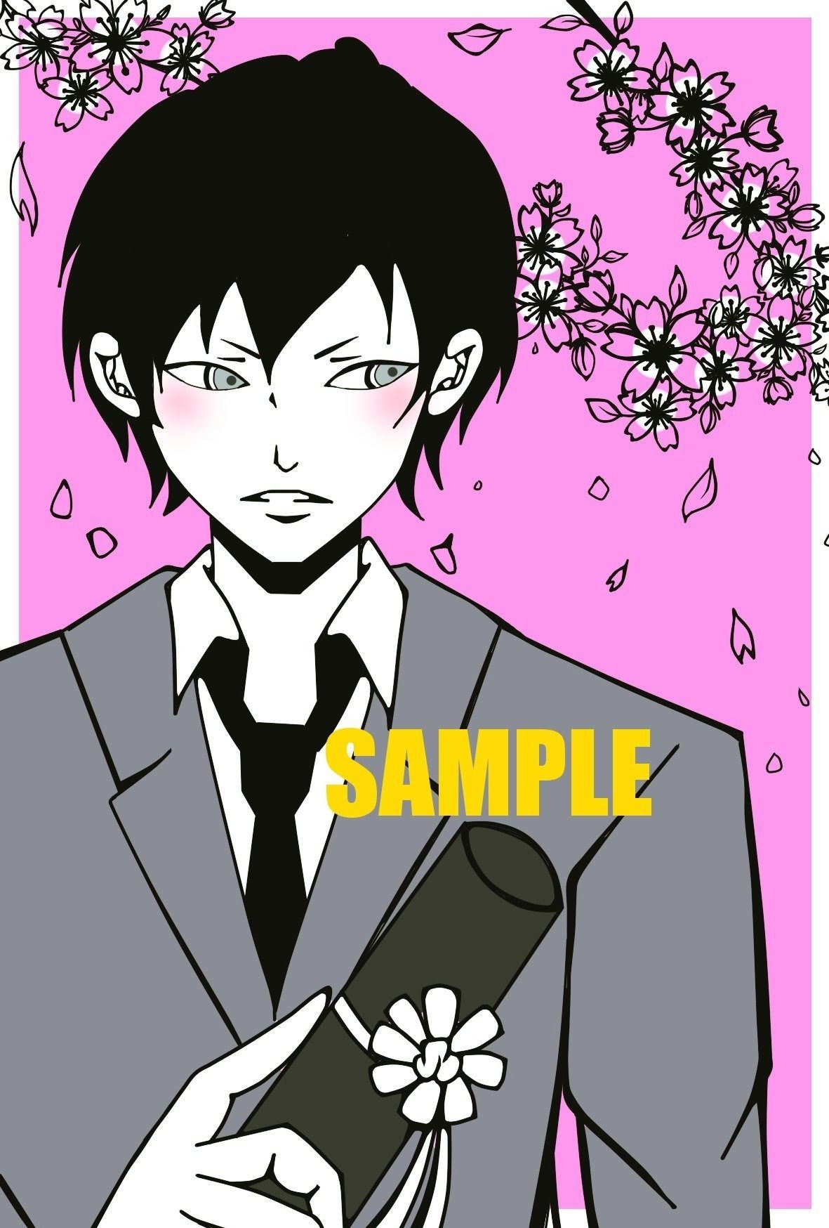 桜、ひらひら。【ポストカード】