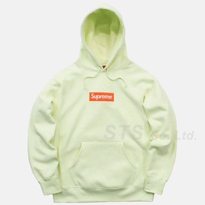17fw supreme box logo  fooded  sweatshirt