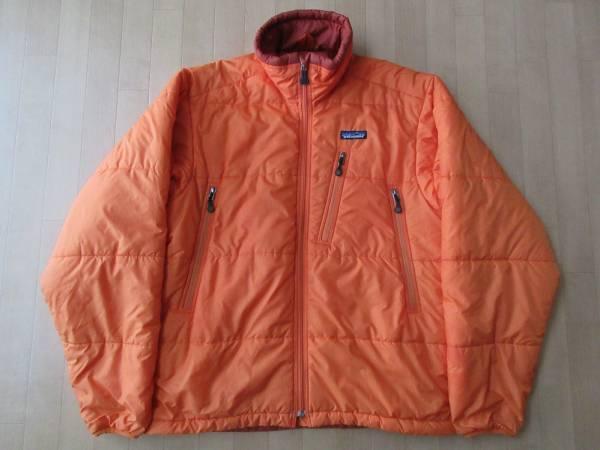 2003年 パタゴニア パフ ジャケット S ホットラバ フード欠品 PATAGONIA Mens Puff Jacket fw2003 hot lava 中綿入り ブルゾン【deg】