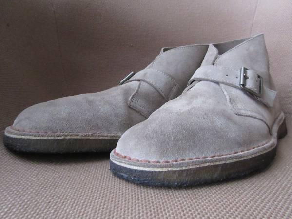 クラークス デザートモンク ブーツ 10.5 サンドCLARKS Desert Monk Bootsデザート バックルSANDベージュ 本革 スエード レザー スウェード【deg】