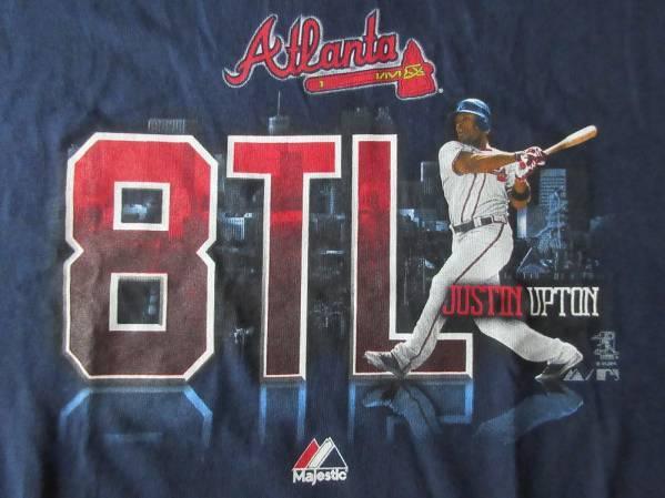 アトランタ ブレーブス Majestic Justin Upton Tシャツ YOUTH L Atlanta Braves ジャスティン アップトン マジェスティック MLB【deg】
