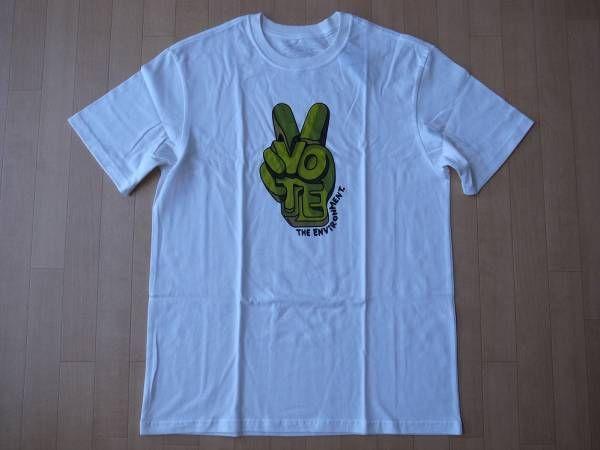 USA製 日本未発売 パタゴニア Alex Trochut M's Vote The Environment Alex Troc Tシャツ M ホワイト PATAGONIAキャンプ【deg】