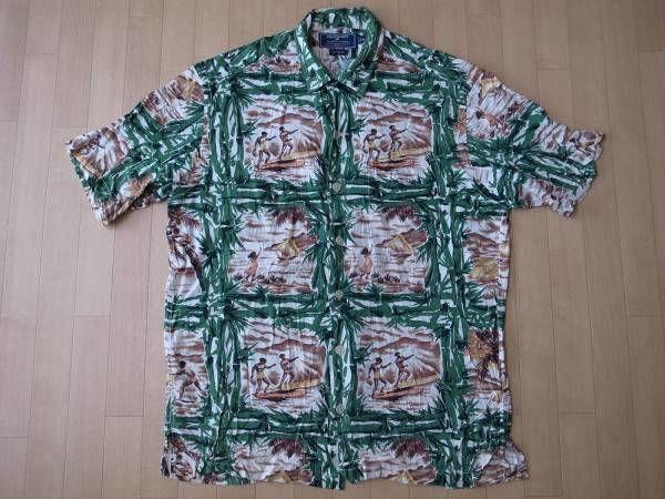 POLO SPORT オールド・レーヨン素材・アロハシャツ サイズ・M -920