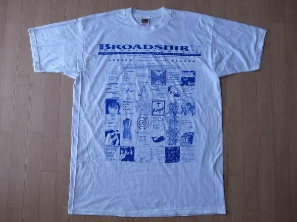 90's BROADSHIRT POETRY MAGAZINE 1996 TシャツXL ビッグシルエット ポエトリーマガジン ビートニクbeatnik Allen Ginsberg【deg】