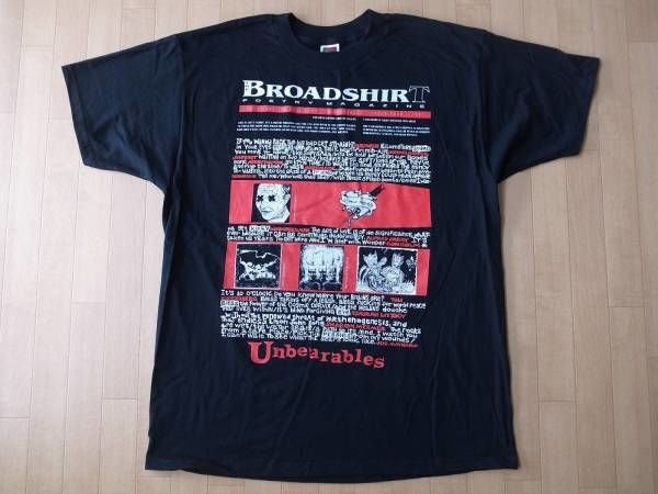 BROADSHIRT POETRY MAGAZINE 1997・Tシャツ サイズ・XL