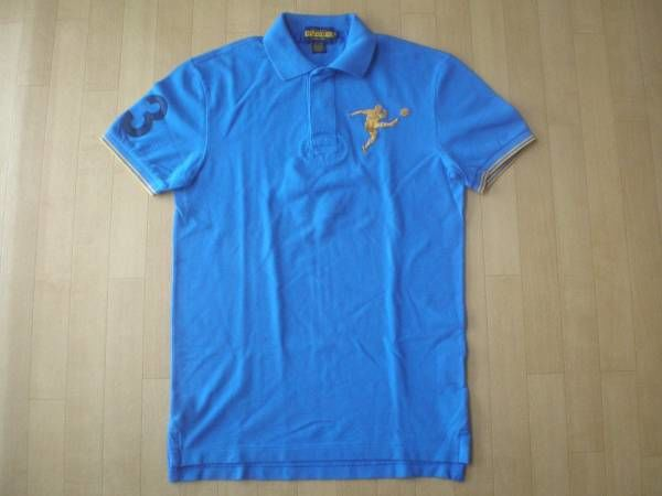 RALPH LAUREN RUGBY パッチ&刺繍入り・半袖ポロシャツ サイズ・S 正規品 未使用品 -237