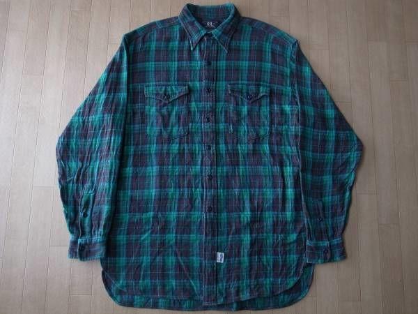 RRL チェック柄・コットン・ネルシャツ サイズ・M 正規品 -219