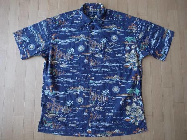 POLO SPORT オールド・コットン素材・アロハシャツ サイズ・M -919