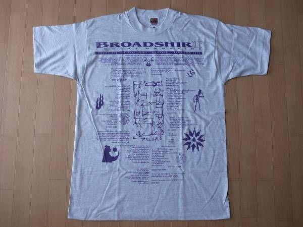 90's USA製 BROADSHIRT POETRY MAGAZINE 1995 Tシャツ L ポエトリー マガジン ビートニク beatnik Allen Ginsberg芸術【deg】