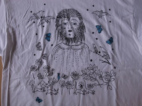 Kiki Smith Wolf Girl Tシャツ Lキキ スミス 彫刻 ART 芸術 美術 アートT 現代アート モダン【deg】