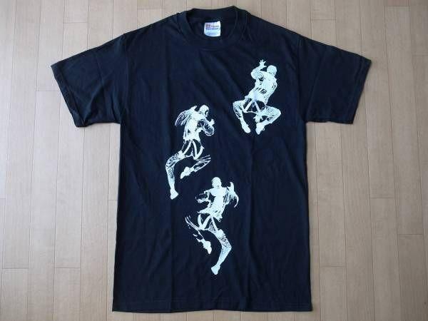 90's ダブリュー ケー インターアクト CLIMBING FIGURES Tシャツ S 黒 ブラックWK interact ART現代美術 グラフィティBanksy バンクシー【deg】