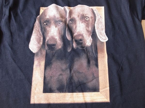 90's William Wegman Weimaraner dog 半袖 Tシャツ