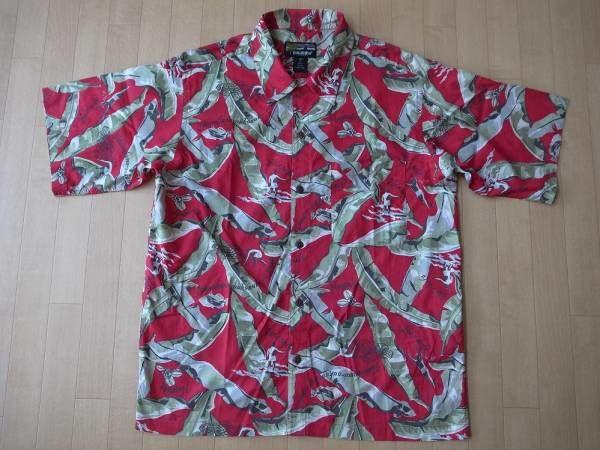 PATAGONIA pataloha・1999年・リーフ&サーファー柄・アロハシャツ サイズ・M 正規品 -918