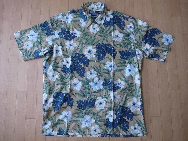 POLO by RALPH LAUREN 花柄・コットン素材・アロハシャツ サイズ・M -853
