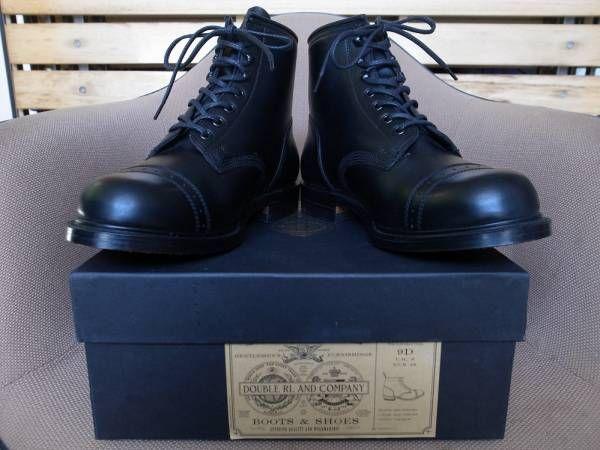 英国製 RRL Bowery Boots レザー ブーツ 9D ダブルアールエル 本革 バワリー シューズ MADE IN ENGLAND POLO RALPH LAUREN【deg】