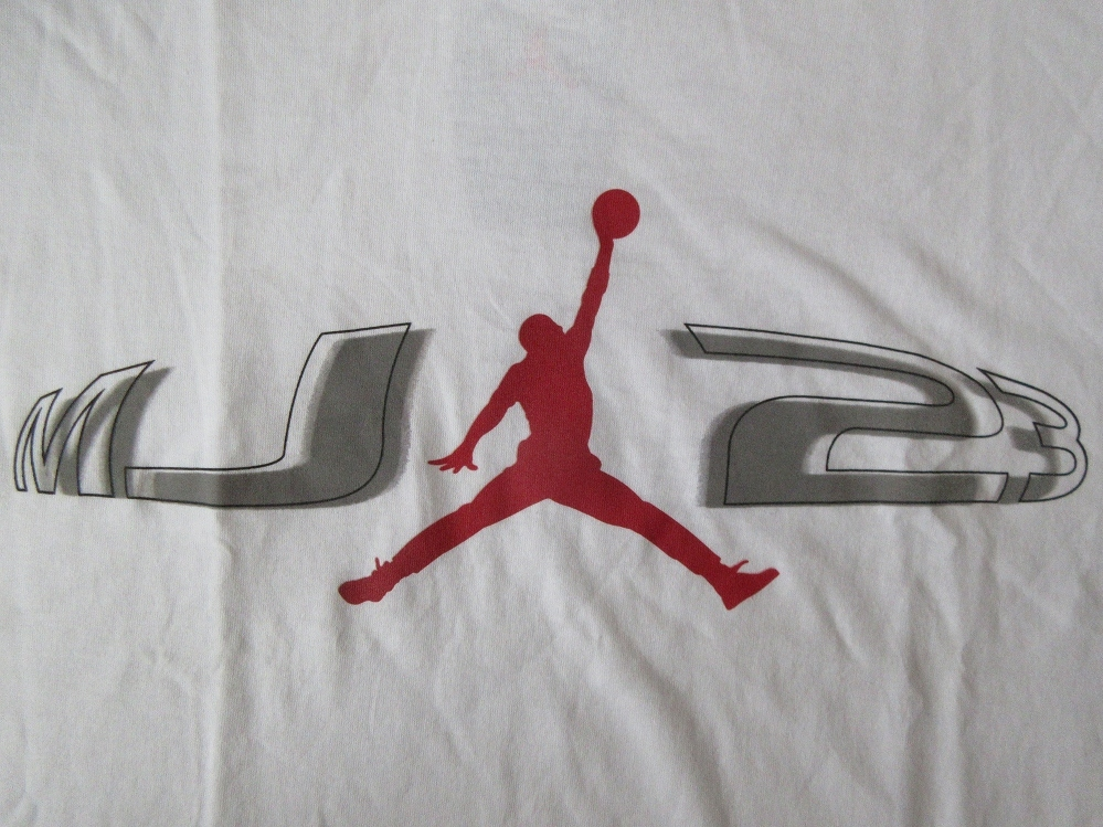 90's NIKE AIR JORDAN MJ Jumpman ロゴ 23 Tシャツ M白 ホワイト ナイキ エア ジョーダン マイケル AJ MichaelジャンプマンNSW【deg】