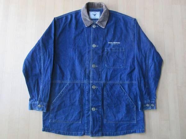 90's 日本製 MARIO VALENTINO JEANS デニム ジャケット ブルゾン【deg】