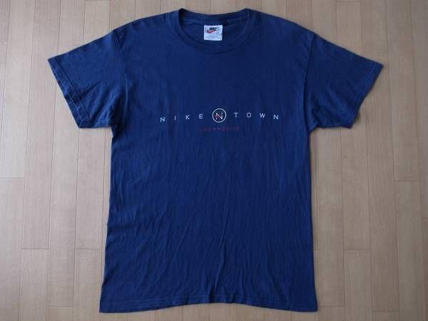 90's USA製 NIKE TOWN ナイキタウン 半袖 Tシャツ S 星条旗NSW【deg】