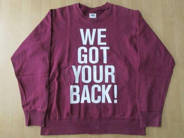 カナダ製 alife WE GOT YOUR BACK! スウェット Lバーガンディ系 コットン100% エーライフ クルーネック トレーナー カットソー パーカー【deg】