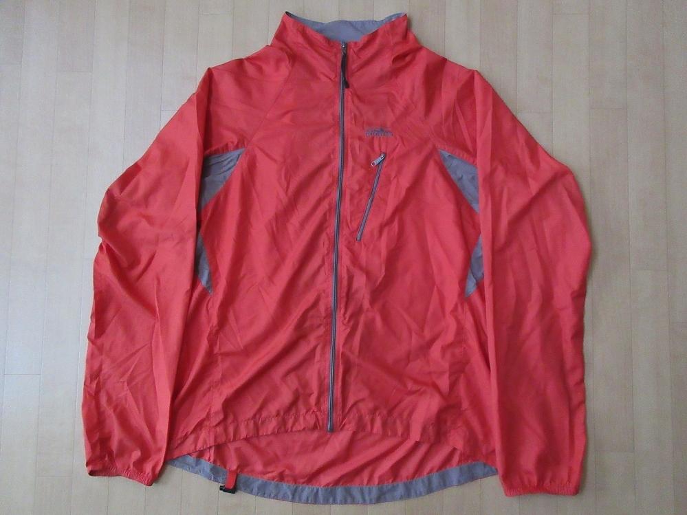 2001年 パタゴニア ベロシティ 薄手 ジャケット L ポップオレンジ PATAGONIA Men's Velocity O2 Shellブルゾン シェル ナイロン 【deg】