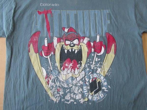 90's USA製 DOUBLE DAIAMOND タズマニアンデビル Tシャツ L TAZ ダブルブラックダイヤモンド【deg】