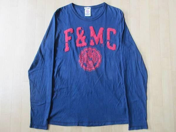 イタリア製FRANKLIN&MARSHALL フランクリン&マーシャル カレッジ 長袖 カットソーL Tシャツ【deg】