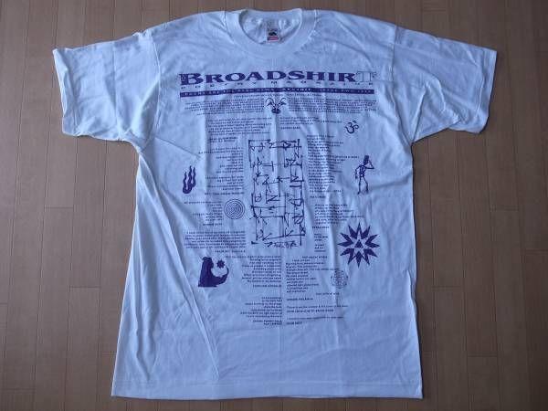 90's USA製 BROADSHIRT POETRY MAGAZINE 1995 TシャツXL ビッグシルエット ポエトリーマガジン ビートニクbeatnik Allen【deg】